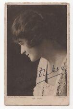 Ivy Duke Actress 1924 Postcard Autographed 760b