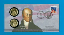 2008-John Quincy Adams Presidential Coin Cover,Unopened, 1st Day Issue for P & D
