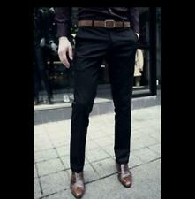 Men's Dress Formal Long Pants Straight Leg Business Slim Fit Trousers Casual New