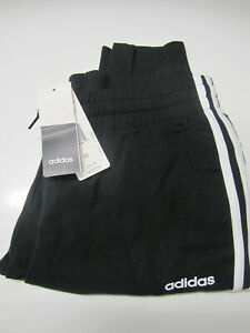 Adidas Women's Black French Terry Classic 3-Stripe Jogger Casual Pants Sz M 2254