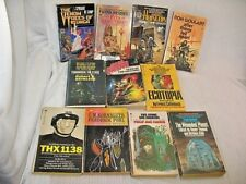 Lot of 11 VINTAGE SCI FI PAPERBACK BOOKS GREAT COVER ART