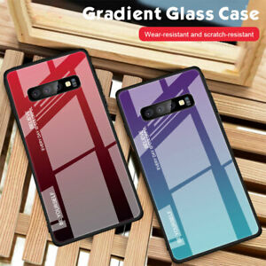 Hybrid Bumper Tempered Glass Case Cover for Samsung Galaxy S8 S9 S10 Plus/Note 9