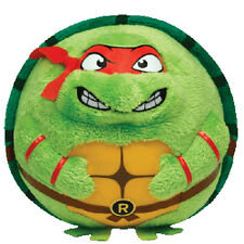 "Ty Beanie Ballz Original Ninja Turtles Raphael 5"" Plush Stuffed Toy"