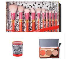 Sonia Kashuk® 10-Piece Makeup Brush Set+Brush Cup+Face/Cheek Palette~NIB