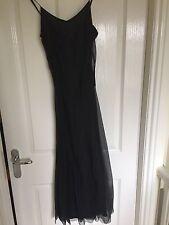 Black Silk jigsaw Cocktail Dress Size 8