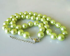 New Natural 10mm Green South Sea Shell Pearl Fashion Necklace  20inch AAA