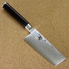 "Japanese KAI SHUN Kitchen Vegetable Nakiri Knife 3.9"" VG-10 Damascus SEKI JAPAN"