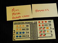 DAMAGED ANTIQUE SLOT MACHINE REPRO MISC MIXED METAL AWARD CARD #MMA113