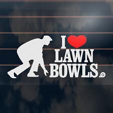 I Love Lawn Bowls Sticker 200mm LAWNBOWLS Heart Car Window Decal