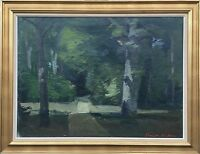 Expressive Painting - Light in Forest - Harald Nielsen 1886-1980 Architect