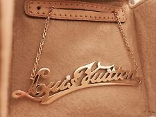 Louis Vuitton ~ 18K Yellow Gold Diamond Signature ID Necklace~ AUTH~ MINT New