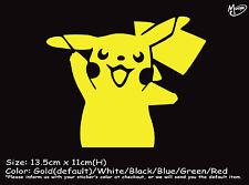 PIKACHU  Reflective Funny Sticker Pokemon Go Car Ute 4x4 Decal Best gift-