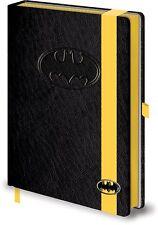 DC Batman Logo Premium a5 NOTEBOOK vincolato sfoderato 100% di qualità Ufficiale Merch
