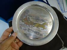 New ListingVintage Currier & Ives The Road Winter Sterling Silver Plate Danbury Mint 1972