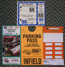 RARE 1998 SAM'S TOWN 250 NASCAR TICKET PIT PERMIT & PARKING PASS WITH HOLDER