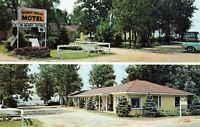 Postcard Ranch House Motel Prudenville Michigan