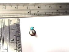Surgical Steel Turquoise Stone Stud Post Lip Tragus Cartilage Ring 16 gauge 16g