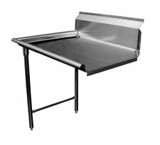 New 48 Clean Dish Table Left Side Gsw Dt48c L 9388 Stainless Steel Dishwashing