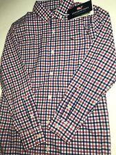 Vineyard Vines Perf. Boys Medium (12-14) Button-up Whale Shirt Bermuda Check