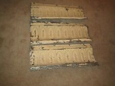 """3 pc Lot 24"""" x 9"""" Crown Molding Antique Ceiling Tin Vintage Reclaimed Salvage"""