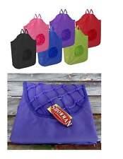 NEW Showman Purple Poly Rope Net HORSE HAY TOTE LG 30x21 BAG Heavy Nylon Canvas