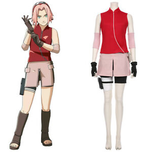 Haruno Sakura Cosplay Costume Girl Skirt Halloween Outfit