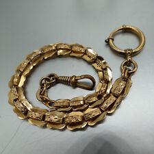 ❂ ► Uhrenkette, Union Gold- Double, 28 cm lang, sehr gut erhalten