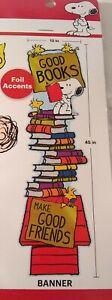 "Eureka Peanuts® All-In-One READING Door Decor Kit  12""x 45"""