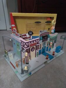 The Simpsons MAIN STREET Interactive Environment playset diorama complete + box
