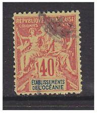 Oceanic Colonies - 1892,40c Rouge/Jaune Tampon - D'Occasion - Sg 10