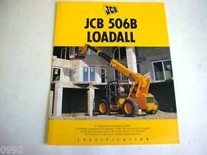 JCB 506B Loadall Forklift 6 Pages,1995 Brochure                                #