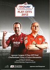 LEAGUE TWO PLAY OFF FINAL  2012 Cheltenham v Crewe