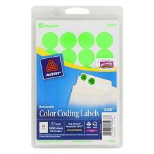 "Avery Dennison Ave-05463 Round Color Coding Label - 0.75"" Diameter"