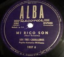 LOS TRES CABALLEROS 78 mi rico son / Arrependita ALBA latin BOLERO Guaracha