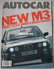 Autocar magazine 15/4/1987 featuring BMW M3 road test, Maserati Biturbo,Vauxhall