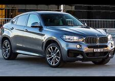 BLACK BMW X6 M50D NEW A1 CANVAS GICLEE ART PRINT POSTER FRAMED