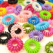 10Stk Haargummi Mädchen Spiral Silikon Haargummis Haarring Telefonkabel Zopf