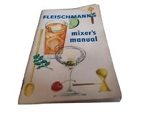 Fleischmann's Mixer's Manual Vintage Cocktail Book Recipes Guide Bar Mixology