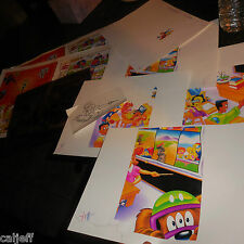 9 LOT SUPERMAN BURGER KING FASTFOOD TOY PRODUCTION PROOFS & KODAK PHOTO CELL