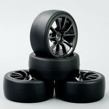 1/10  RC Speed Drift Racing Car Tires Tyre and Wheel For HPI 4PCS C12M