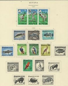 GUYANA LOT / COLLECTION OF (50) STAMPS