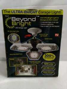 BEYOND BRIGHT 3500 Lum 11.5'' Single Pole Occupancy LED Flush Mount Garage Light