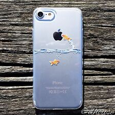 MADE IN JAPAN Soft Clear TPU Case Goldfish design for iPhone 7