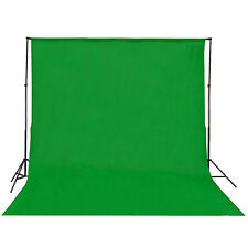 Cotton Chromakey Green Screen Muslin Backdrop Photo Photography Background Kit&