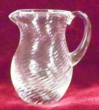 Swirl Toy Creamer Clear Art Glass Czechoslovakia Child's Antique