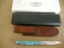 AIK Barry Adams Interceptor Tactical D/E Dagger Fixed Blade Knife, Turquoise
