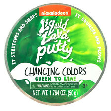 Nickelodeon Liquid Lava Putty Changing Colors Green to Lime 1.764 oz New