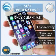 PREMIUM SPEED AT&T FACTORY UNLOCK CODE SERVICE ATT IPHONE 3 4 4S 5 5S 5C 6 6+ 7