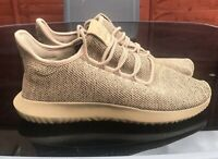 Adidas Cardboard Brown Mens Tubular Knit Shadow Trainers UK 7.5 Rare BY3711