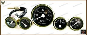 WILLYS JEEP COMPLETE SPEEDOMETER ASSEMBLY AND GAUGE KIT -12 VOLT(FITS SEE DESP)